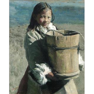 Vitalwalls Portrait Canvas Art Print, Pure Wooden FrameOriental-163-F-60