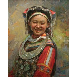 Vitalwalls - Portrait Painting -Premium Canvas Art Print.Oriental-122-45