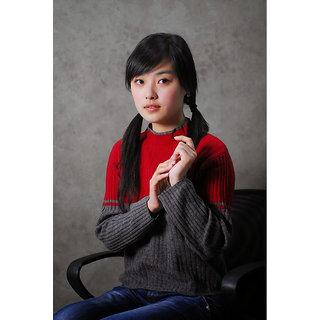 Vitalwalls - Portrait Painting -Premium Canvas Art Print.Oriental-125-60