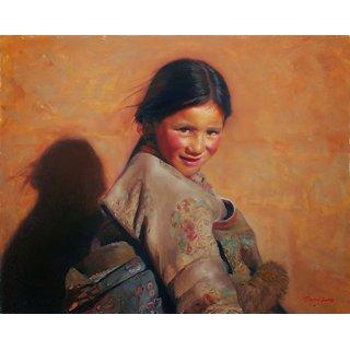 Vitalwalls - Portrait   Canvas Art Print -  Pure Wooden FrameOriental-128-F-60