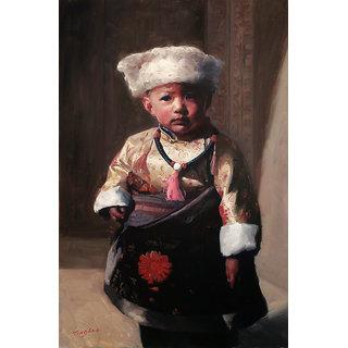 Vitalwalls - Portrait   Canvas Art Print -  Pure Wooden FrameOriental-138-F-60