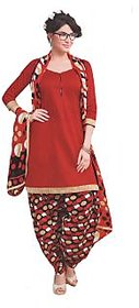 Patiala Style Cotton Dress Material