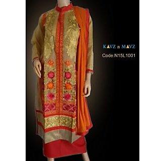 Womens Dress Material Semi Stitched Salwar Suits
