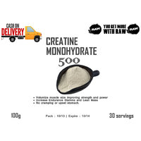 Creatine Monohydrate Powder 100% : 100 Gms - Unflavored Pure Raw - 2078754