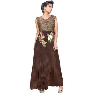 Surat Tex Maroon Color Designer Embroidered Georgette Semi-Stitched Anarkali-E354DL5002VO