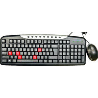Adcom USB Keyboard With USB Mouse Combo - Black