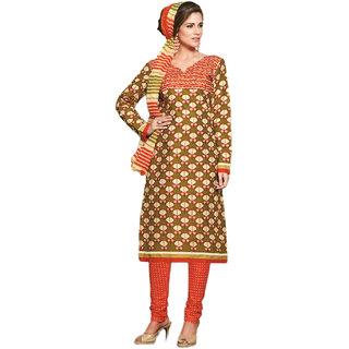 Drapes Multicolor Cotton Suit Dress Material Unstitched
