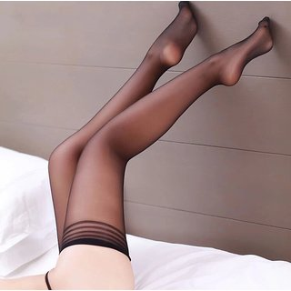 2c16792502 Fashion Women Sexy Lace Top Stayup Thigh-High Stockings Tights (Black)