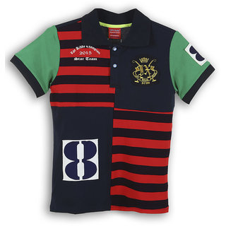 Lilliput Cotton Solid Boy Polo Collar T-Shirt (8907264056991)