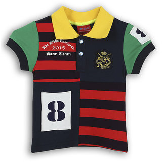 Lilliput Cotton Solid Boy Polo Collar T-Shirt (8907264057370)