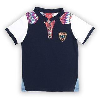 Lilliput Cotton Solid Aztec Cut T-Shirt (8907264058759)