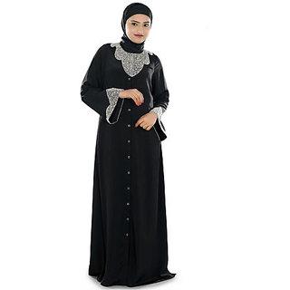 Stone Work Embroidered Burka