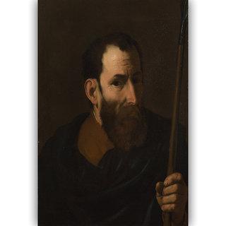 Vitalwalls An Apostle By Jusepe de Ribera Canvas Art Print on  Wooden Frame-Figure-136-F-30cm