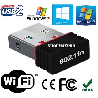 USB WIFI ADAPTER DONGLE FOR LAPTOP & DESKTOP WI FI