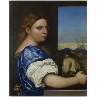 Vitalwalls The Daughter of Herodias  Canvas Art Print.-Figure-127-30cm