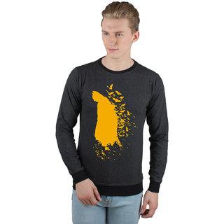 Batman2 Black Melange  Black Mens Full Sleeve Sweatshirt