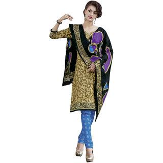 Drapes Pink Dupion Silk Lace Salwar Suit Dress Material (Unstitched)