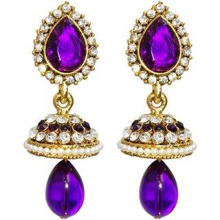 Dhwani Creation ER331V Purple Alloy Drop Earrings