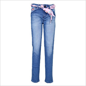 Tales & Stories Snow Wash Belted Jeans (2-8)