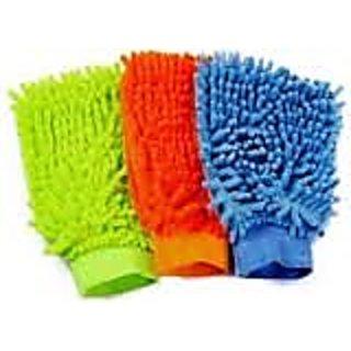 Nimarketing CCL52 Microfibre Vehicle Washing Cloth (Multicolor) Set of 3