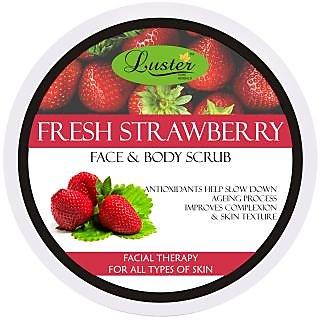 Luster Fresh Strawberry Face Body Scrub - 400 g
