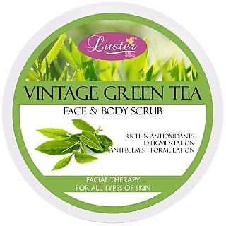 Luster Vintage Green Tea Face Body Scrub - 400 g