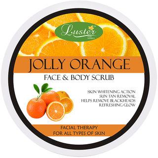 Luster Jolly Orange Face Body Creme Scrub for deep cleansing - 400g