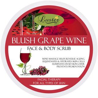 Luster Blush Grape Wine Exfoliating Face Body Creme Scrub - 400 g