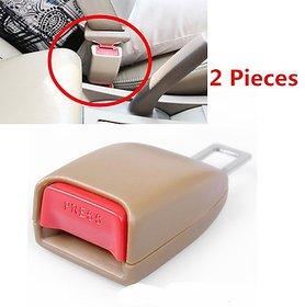 2 Pcs Car Seat Belt Extender Safety Eliminator Alarm Stopper Buckle Insert Clips