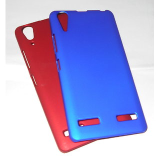For Lenovo A6000 plus Ruberrised Back Case with tempered glass