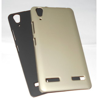 For lenovo A6000 plus stylish hard plastic case with tempered glass