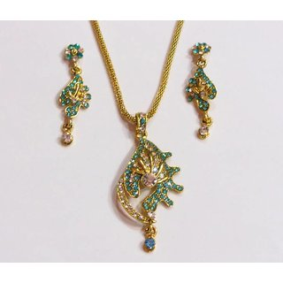 Sea Green Necklace Set. GLITZY BY ROOHIE