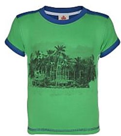 UFO Instyle Green & Royal Blue T-Shirt