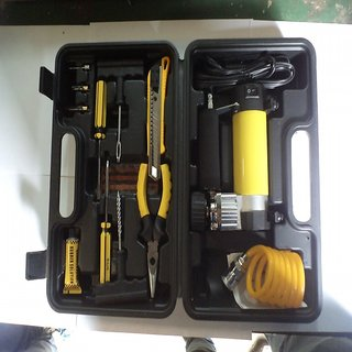 Air Compressor Set With Tire Repair Tools