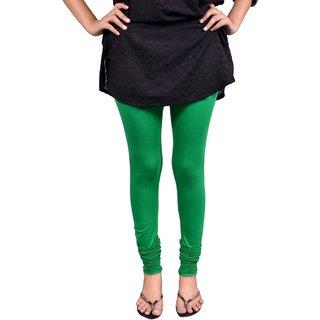 Saanvee Cotton Lycra Girls Dark Green Leggings
