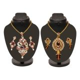 Combo Of 2 Colorful Heavy Pendant Set D And Y1002