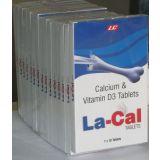 La Cal Tablets 1x10 Tablets Of Vitamin D3 250i.u With Calcium Co3 1250mg