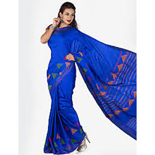 Uppada soft silk saree in Blue colour