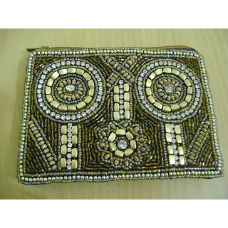 Beaded Ladies designer coin bag