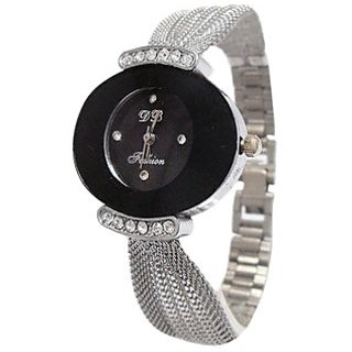 Analog Silver Stainless Steel Wrist Watch