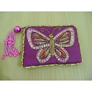 Zari work Ladies coin purse