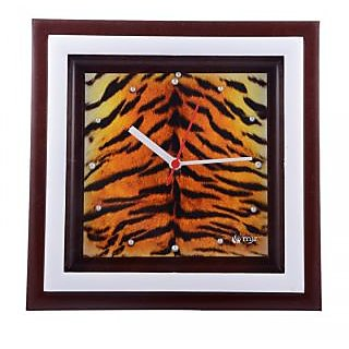 Manjari Exclusive Digital Print Wall Clock  Tiger Print