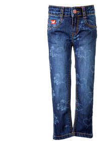 Tales & Stories Skinny Jeans With Roses (1-3 Blue)