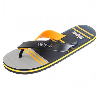 0193edc8d Bahamas Latest Black   Yellow Sleepers By House Of Relaxo Footwears Limited