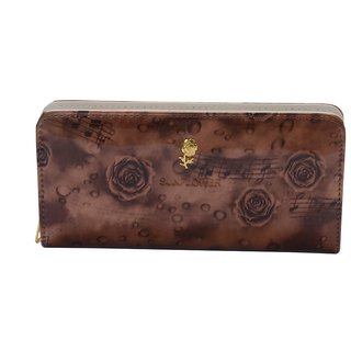 Trendy Soft Brown Rose Clutch