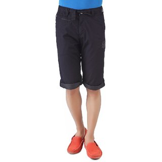BEEVEE-MEN ROYAL BLACK SLIM FIT CASUAL CAPRIS
