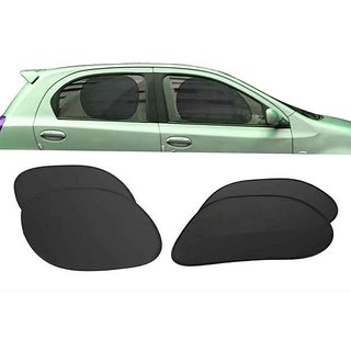Electro-Static Car Universal Sun Shade With Automatic Window Grip (4 Pcs)