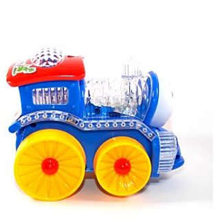 Zaprap funny Loco Train with Flashing Light Multicolor(Yellow/Blue)