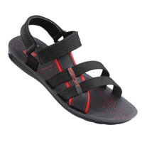 VKC Pride Men's Black And Red Floaters