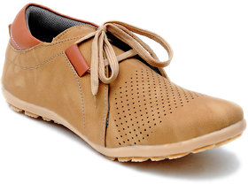 Oora Men's Tan Casual Lace Up Shoes